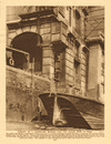 Remnant of a Thames-side mansion near Cannon Street Station 1926 old print